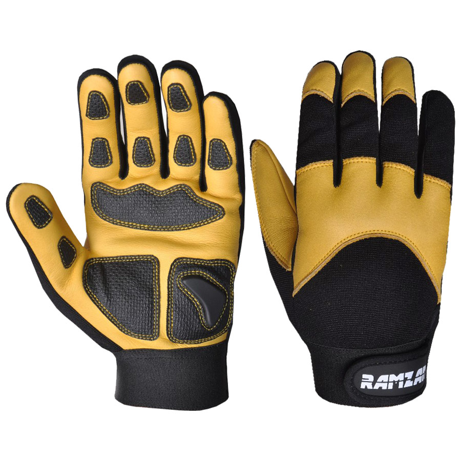 Cowhide leather Mechanics Gloves