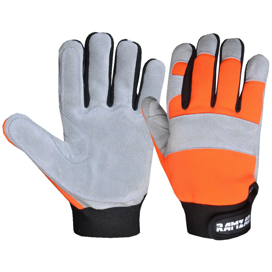 Mechanics Gloves four way