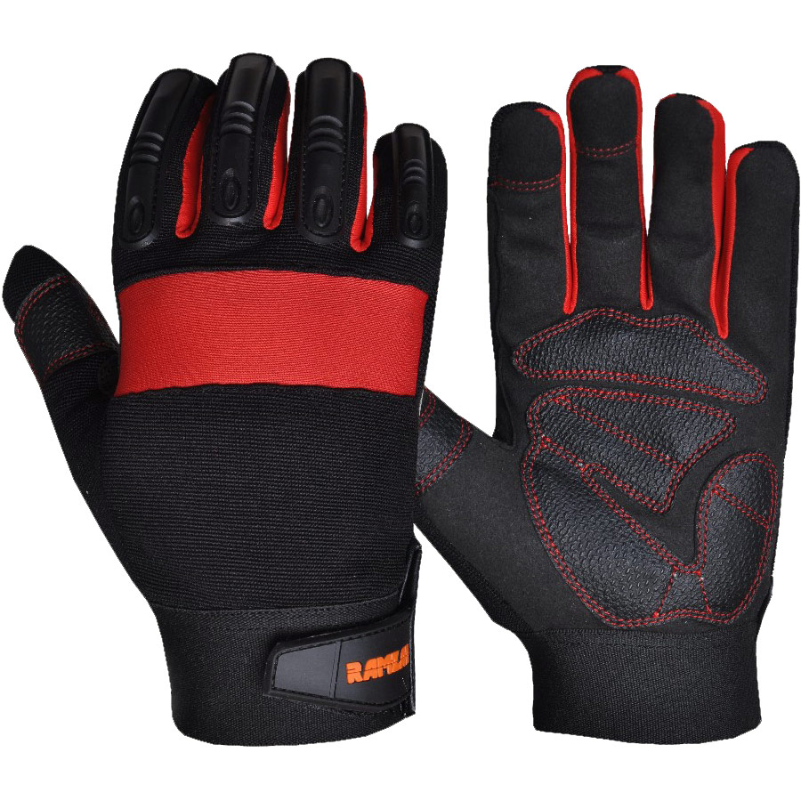 Knuckle Padding Molded TPR Impact Gloves