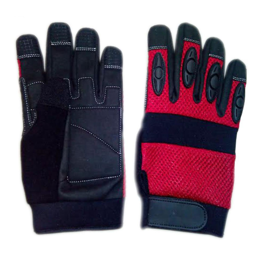 Padded anti vibration gloves